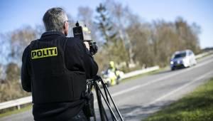 Rigspolitiet afslører: Borgerne i disse to byer fik flest fartbøder sidste år
